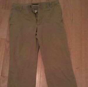 Old Navy Brown Cotton Khaki Loose Pants Size 32 W